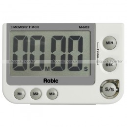 Robic M603 silent/audible Three Memory LED Timer