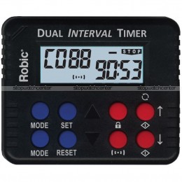 Robic M613 silent/audible Dual Interval & Countdown Timer